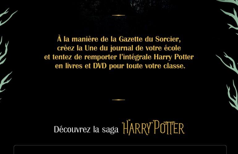 Jeu-concours Harry Potter